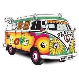 60s vw bus clipart
