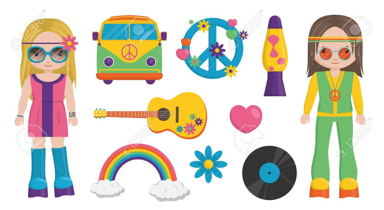 Hippies s x clip. Free clipart 60s