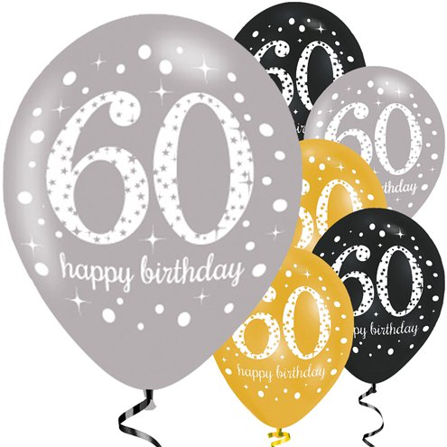 60th birthday balloons clipart clip art Happy 60th Birthday Gold Mix Sparkling Celebration Balloons - 11 ... clip art