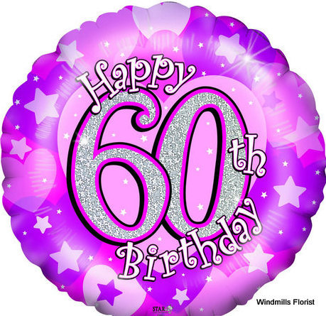 60th birthday balloons clipart picture royalty free download \'Happy 60th Birthday\' Single Balloon picture royalty free download