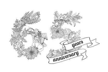 65 years clipart clip art freeuse Sixty Five (65) Years Anniversary premium clipart - ClipartLogo.com clip art freeuse
