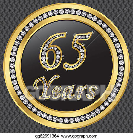 65 years clipart image library Vector Illustration - 65 years anniversary, happy birthda. EPS ... image library