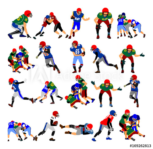 69 position clipart clipart black and white American football players in duel action, vector illustration ... clipart black and white