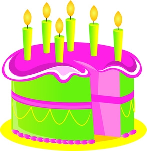 6th bday cake clipart svg black and white stock Green Birthday Cake Clipart - Clip Art Library svg black and white stock