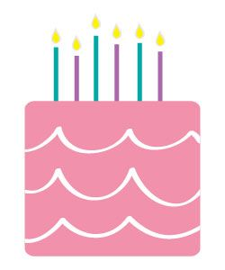 6th bday cake clipart png library library Free Happy Birthday Clipart and graphics to for invitations, banners ... png library library