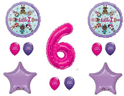 6th birthday one balloon clipart