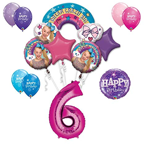 6th birthday one balloon clipart svg library Amazon.com: JoJo Siwa 6th Birthday Party Large Decoration Balloon ... svg library