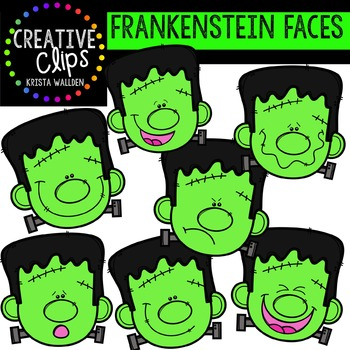 7 14 digital clipart picture free library Frankenstein Faces {Creative Clips Digital Clipart} picture free library