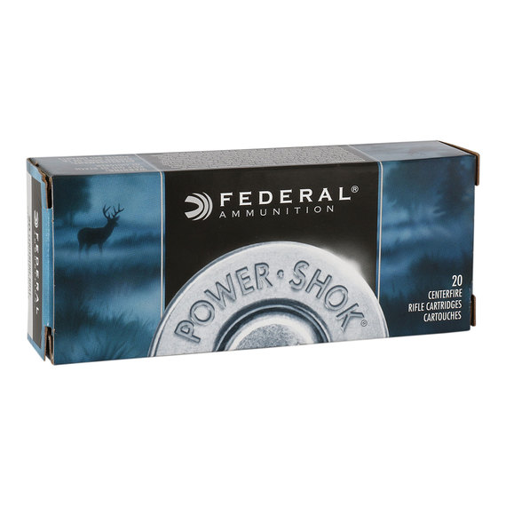 Federal Power Shok 7.62x39 Ammo clip black and white