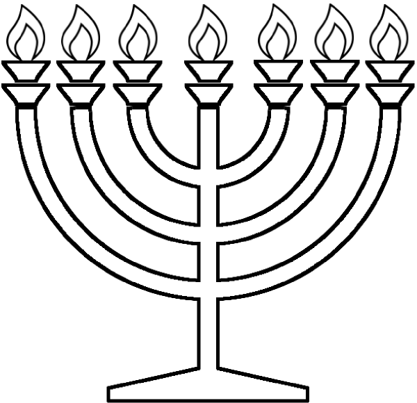 7 arm menorah clipart black and white library Free Pictures Of Menorah, Download Free Clip Art, Free Clip Art on ... black and white library