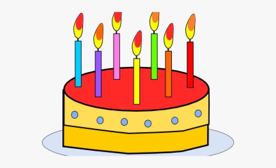 Birthday Candles Clipart 7 Years Old - Cake With Candles Clipart ... svg royalty free library