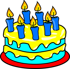 Free clipart birthday cake with candles image freeuse download Cake 7 Candles Clip Art at Clker.com - vector clip art online ... image freeuse download