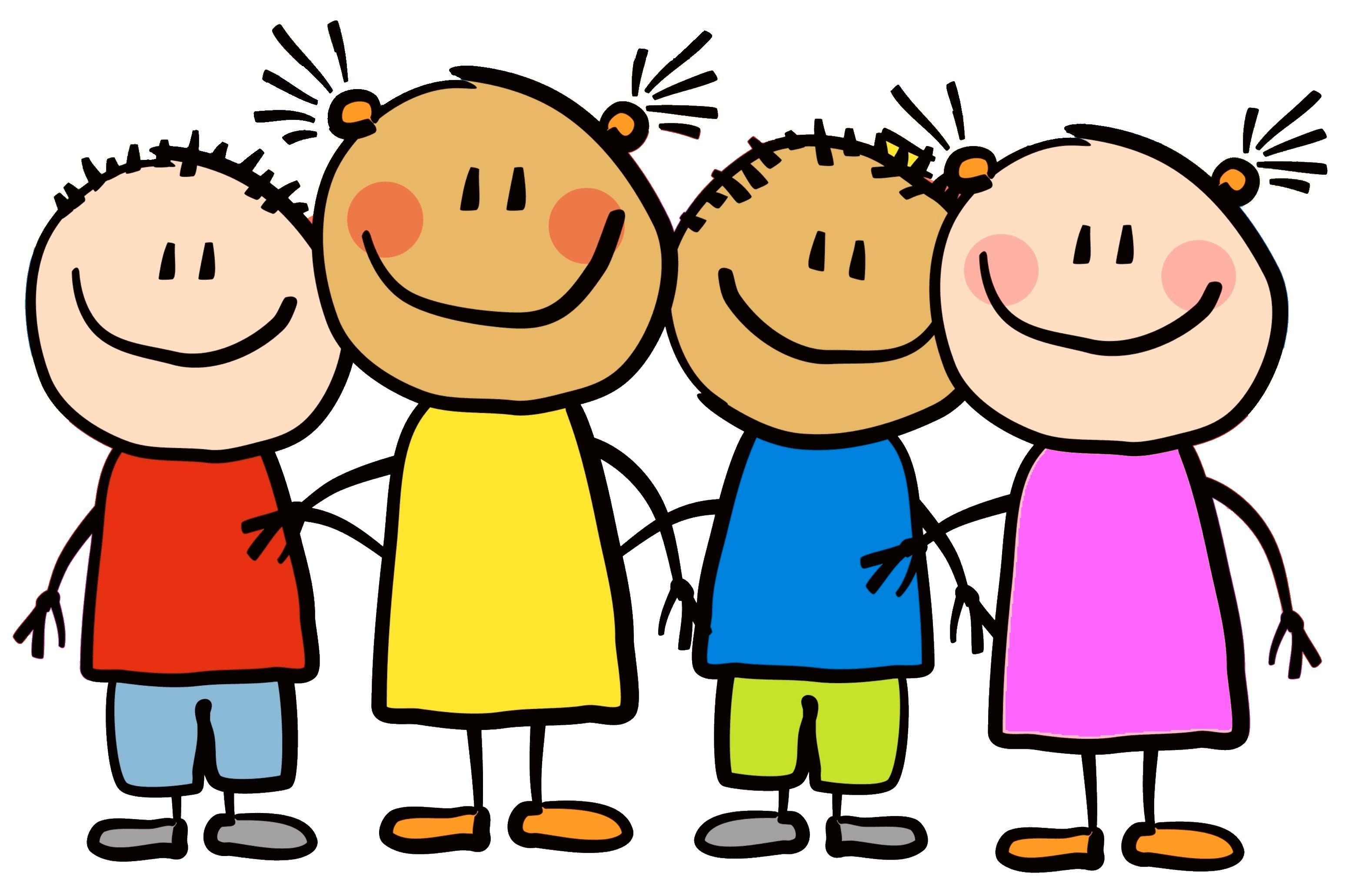 7 children clipart black and white stock cartoon-little-kids-happy-clipart-7 | Elkhorn Public Schools Foundation black and white stock