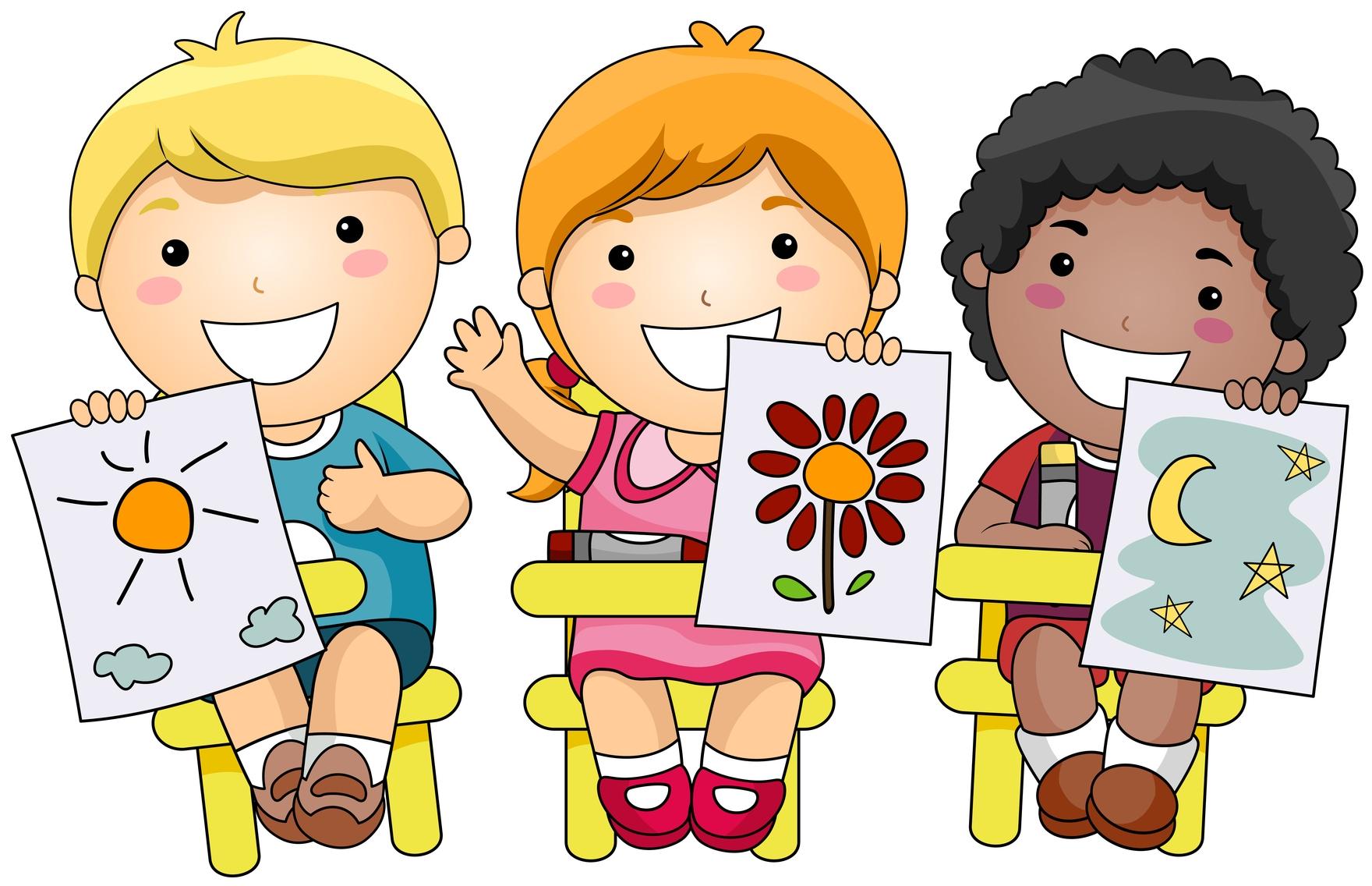 Atist kids clipart jpg black and white 7+ Children Clipart | ClipartLook jpg black and white