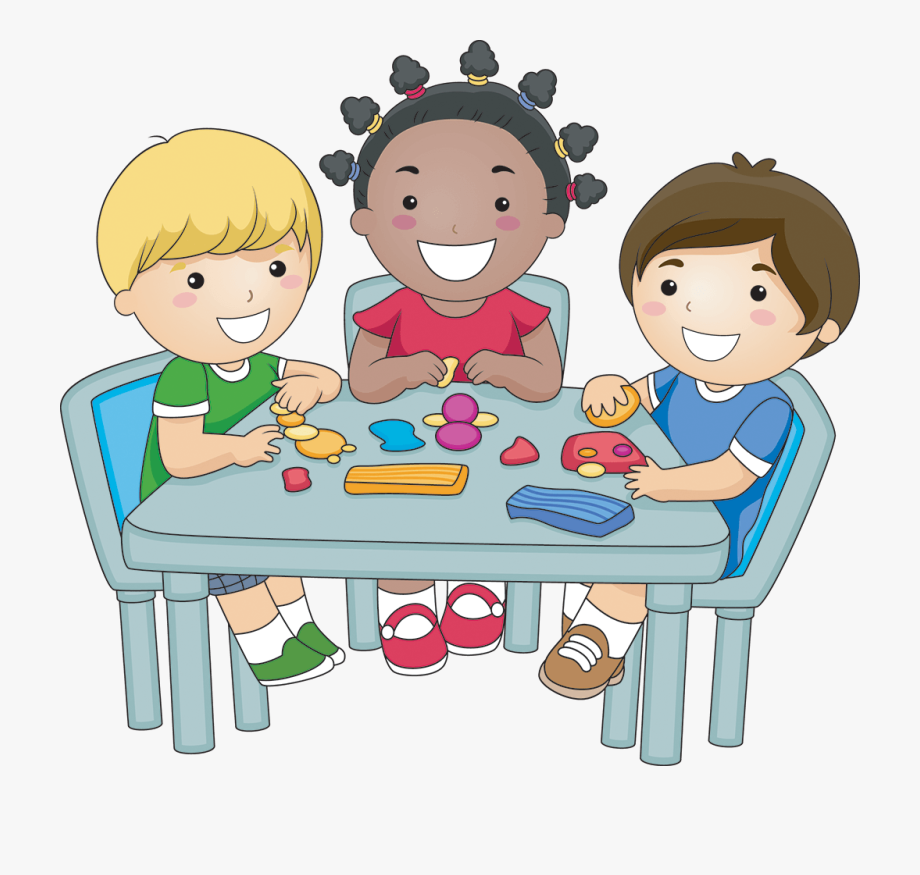 7 children clipart image library Children Eating Breakfast Clipart - Kids Play Dough Clipart ... image library