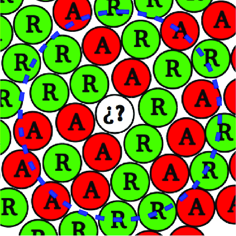 7 clipart with green circle jpg freeuse stock Crowd with relaxed (green circles) and anxious (red circles ... jpg freeuse stock