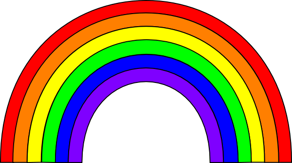 7 colored clipart rainbow royalty free stock Color Rainbow Cliparts - Cliparts Zone royalty free stock