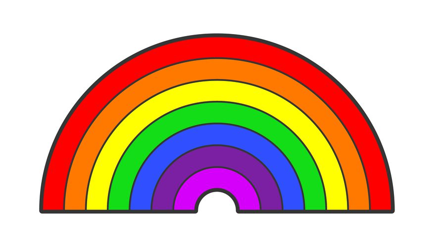 7 colored clipart rainbow image free library Pictures Of The Rainbow | Free download best Pictures Of The Rainbow ... image free library