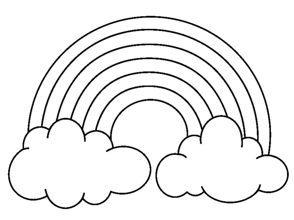 Rainbow black and white clipart svg transparent library 7+ Rainbow Clipart Black And White - Preview : Rainbow With Clou ... svg transparent library