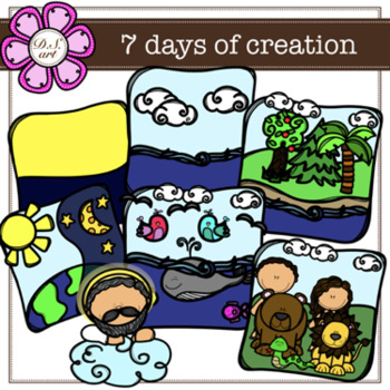 Days of creation clipart image freeuse 7 days of creation Clipart (color and black&white) image freeuse