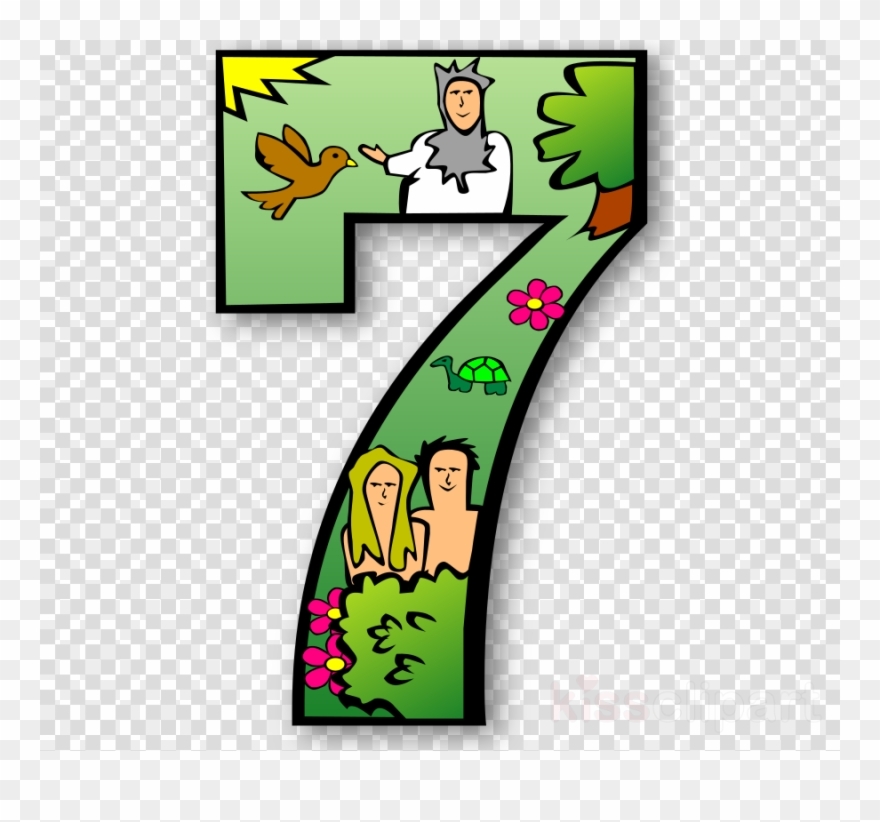 7 Days Of Creation Numbers Clipart Bible Creation Myth - Day 7 ... clip transparent library