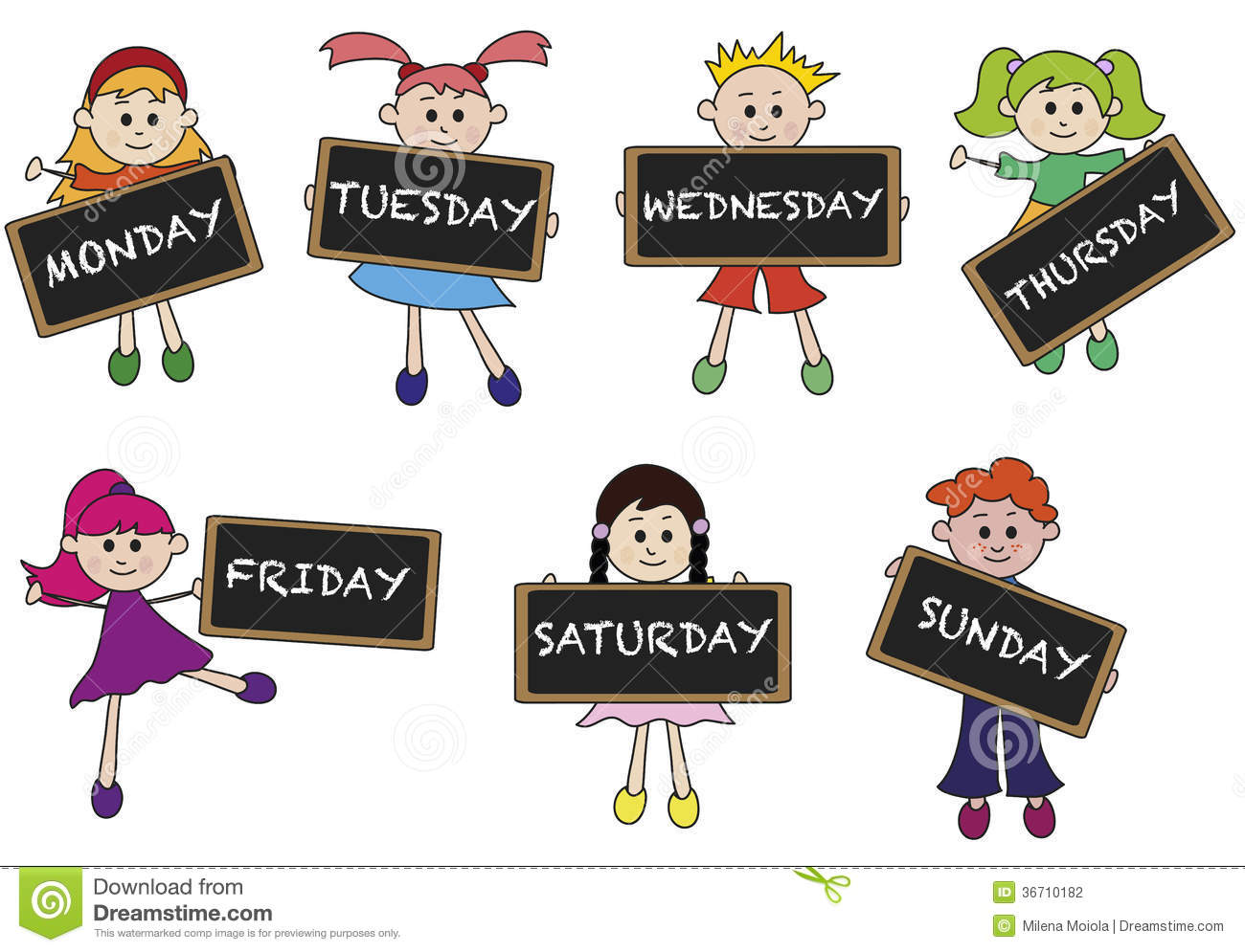 7 days of the week clipart image transparent download 42+ Days Of The Week Clip Art | ClipartLook image transparent download