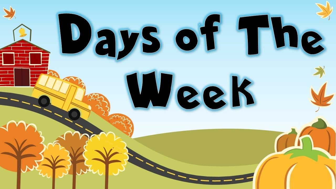 7 days of the week clipart banner transparent library Days of the week song | Days of the week songs for kids | 7 days of the  week | Tin Tin TV banner transparent library