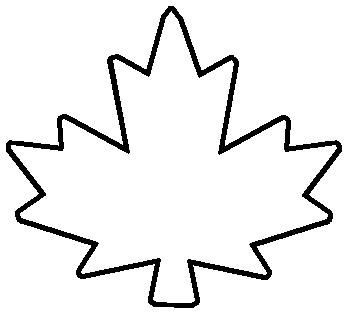 7 outline clipart free stock Maple leaf outline clipart 7 – Gclipart.com free stock