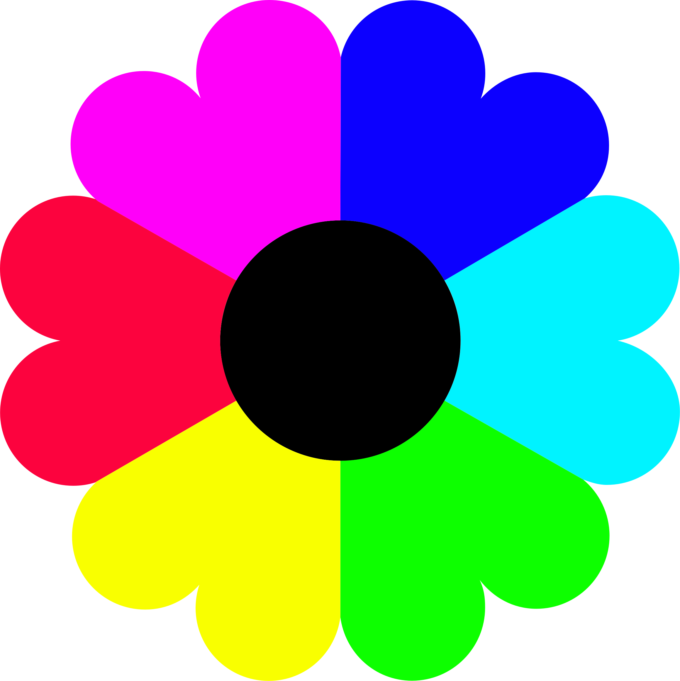 Colorful flower clipart clip art black and white Clipart - Flower 7 colors clip art black and white
