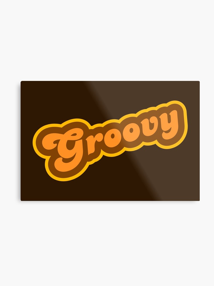 70 s dynamite clipart graphic freeuse Groovy - Retro 70s - Logo | Metal Print graphic freeuse
