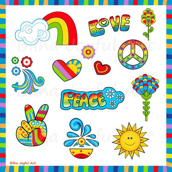 70s groovy clipart clip art library stock 60\'s style Icons Clipart love peace groovy 60s 70s | Cute Art ... clip art library stock