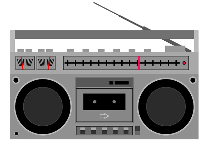 70s boom box clipart png black and white Boombox clip art - Clip Art Library png black and white