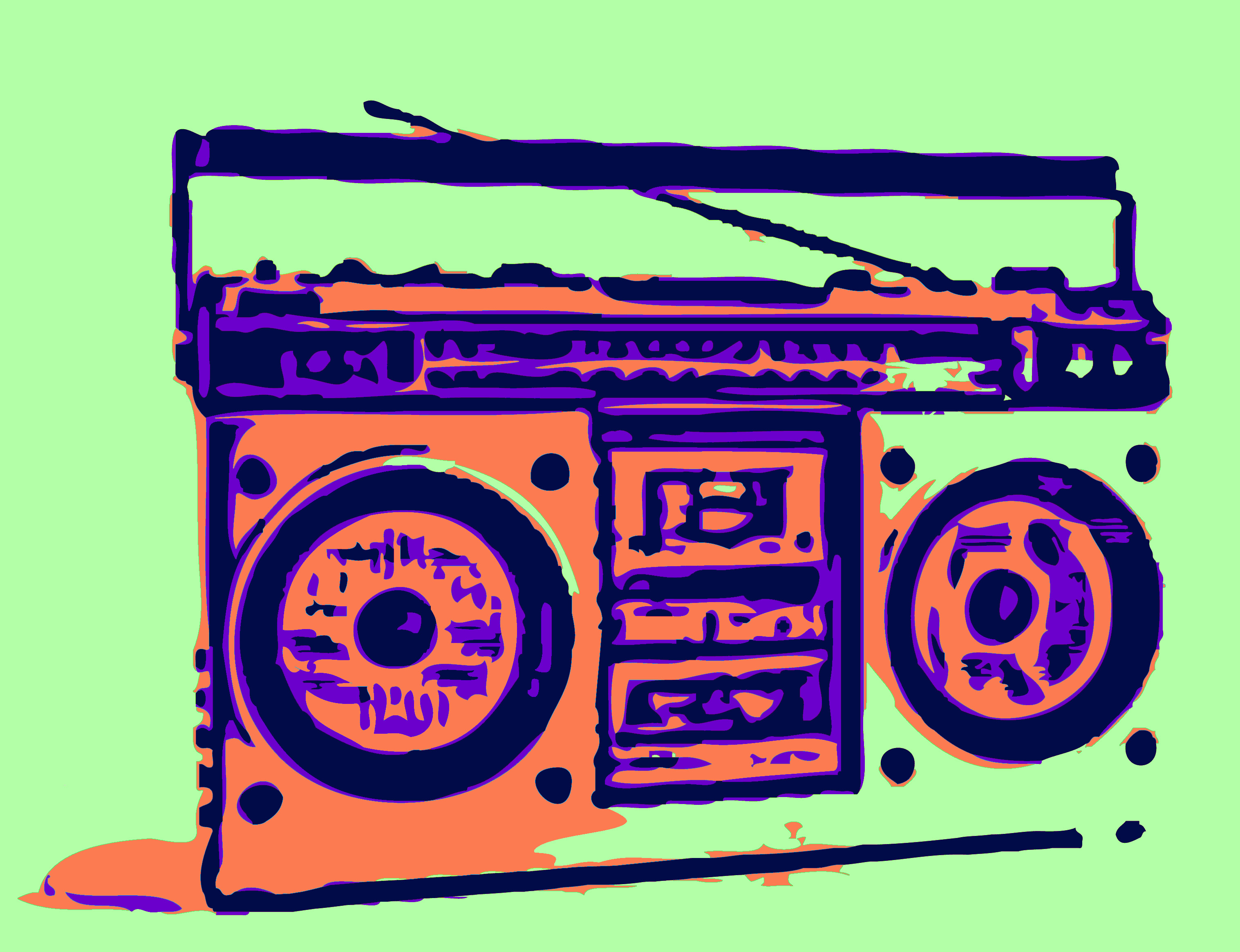 70s boom box clipart clip freeuse download 1980s Boombox 1970s Compact Cassette Cassette deck - audio cassette ... clip freeuse download