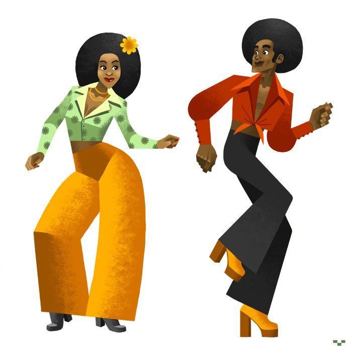 70s cartoon clipart jpg transparent Soul Train 70\'s   Art, Caricatures, Doodles and Cartoons   Clipart ... jpg transparent