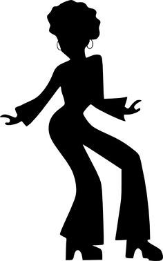 70s cleaning lady clipart image library library Afro Silhouette Clip Art | Afro Dancing Woman clip art - vector clip ... image library library