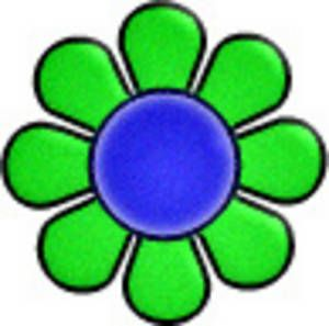 70s cute clipart png free library 70s Groovy Clip Art | Free Retro Clipart Picture of a Day-Glo Flower ... png free library
