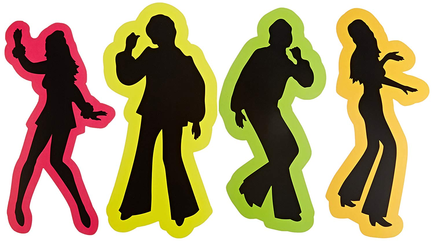 70s disco silhouette clipart image library Retro 70\'s Silhouettes Party Accessory (1 count) (4/Pkg) image library