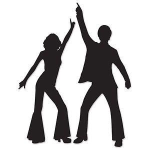 70s disco silhouette clipart jpg free download 70\'s DISCO DANCERS Silhouettes Cutouts Birthday Party Dance ... jpg free download