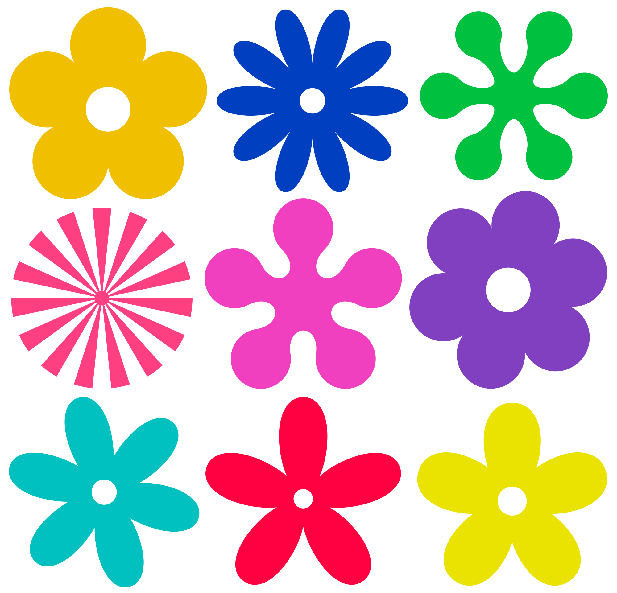 Tiny flower clipart banner freeuse library File:Retro-flower-ornaments.svg - Wikimedia Commons banner freeuse library