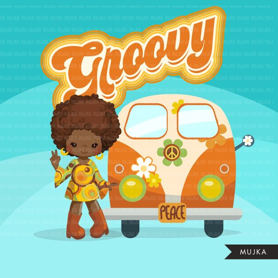 70s groovy clipart svg free 60\'s retro groovy clipart. 70\'s graphics, record, Volkswagen wagon ... svg free