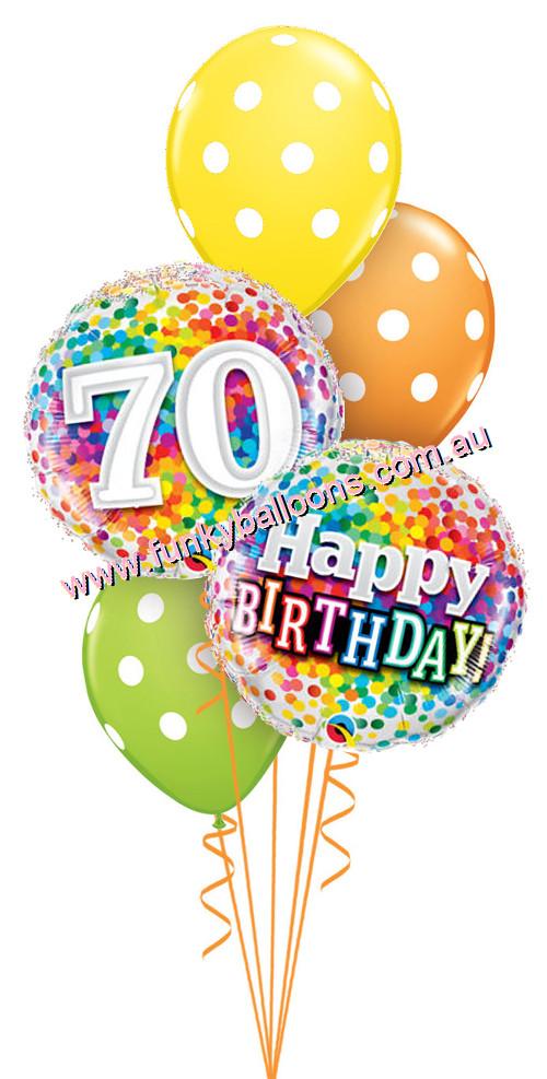 70th balloon clipart jpg transparent 70th Birthday : Funky Balloons, Brisbane (QLD) Helium Balloon Gift ... jpg transparent