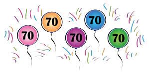 70th balloon clipart graphic stock 70th Balloons graphic stock