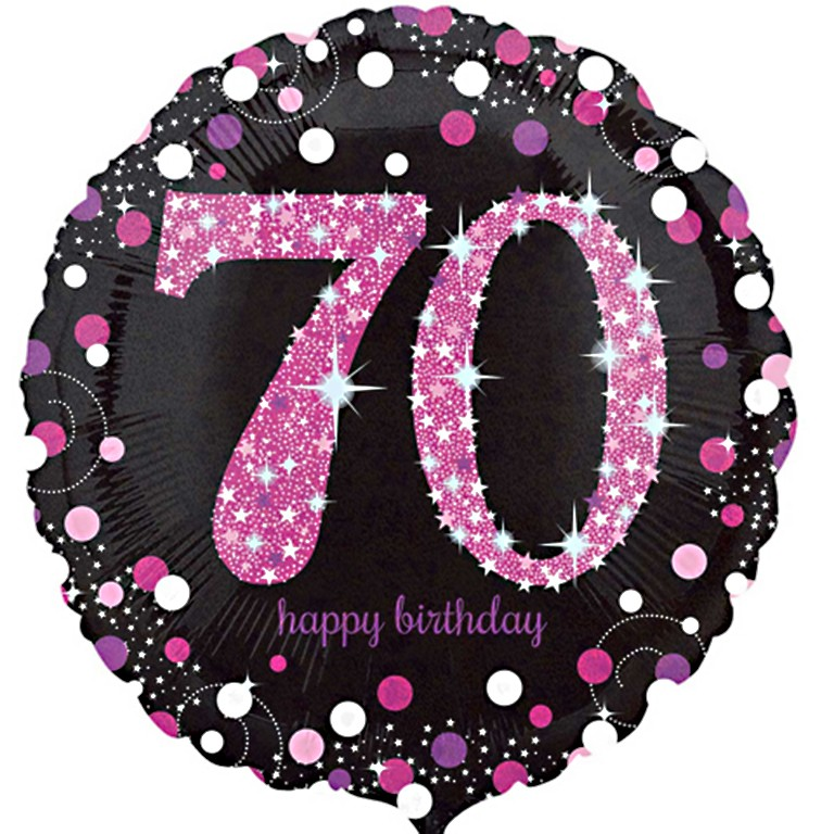 70th balloon clipart clipart library stock Celebration Pink 70th Birthday Balloon clipart library stock