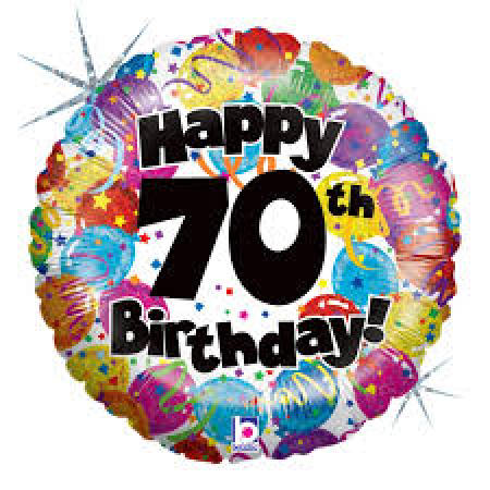70th balloon clipart png black and white 70th Birthday balloon - Helium filled - same day delivery png black and white