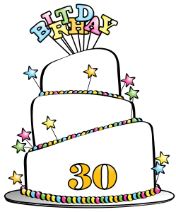 70th birthday cake clipart picture library download 30th Birthday Clip Art & 30th Birthday Clip Art Clip Art Images ... picture library download