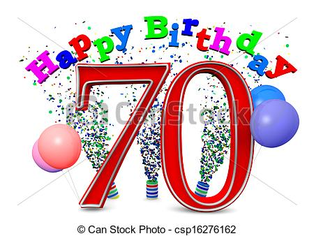 70th birthday cake clipart. Happy th kid stock