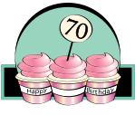 70th birthday cake clipart graphic free library 70th Birthday Border Clipart - Clipart Kid graphic free library