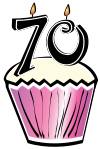70th birthday cake clipart.  th clipartfest