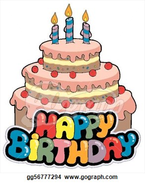 th clipartfest happy. 70th birthday cake clipart