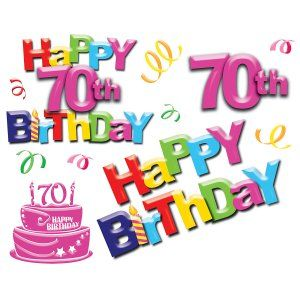 70th clipart picture freeuse library happy 70th birthday clip art | Home » Happy 70th Birthday Giant Wall ... picture freeuse library